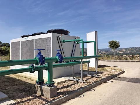 Adiabatikus rendszerű hűtőtornyok